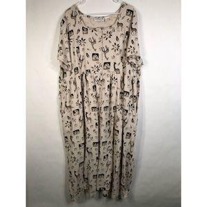 Erika II Plus Size 4X Dress Giraffe Print 956